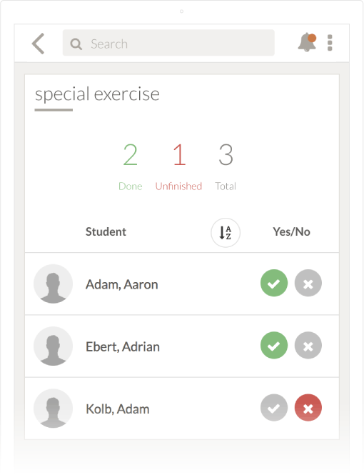add checklists for students in TEGO.CLASS