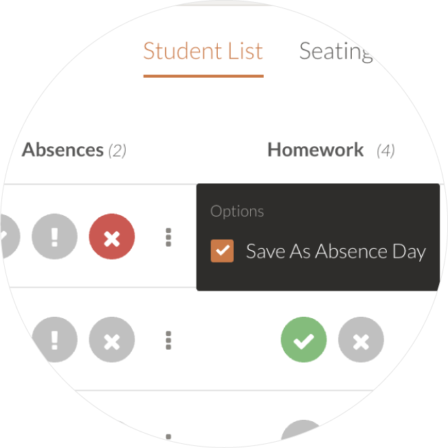 save as absence day