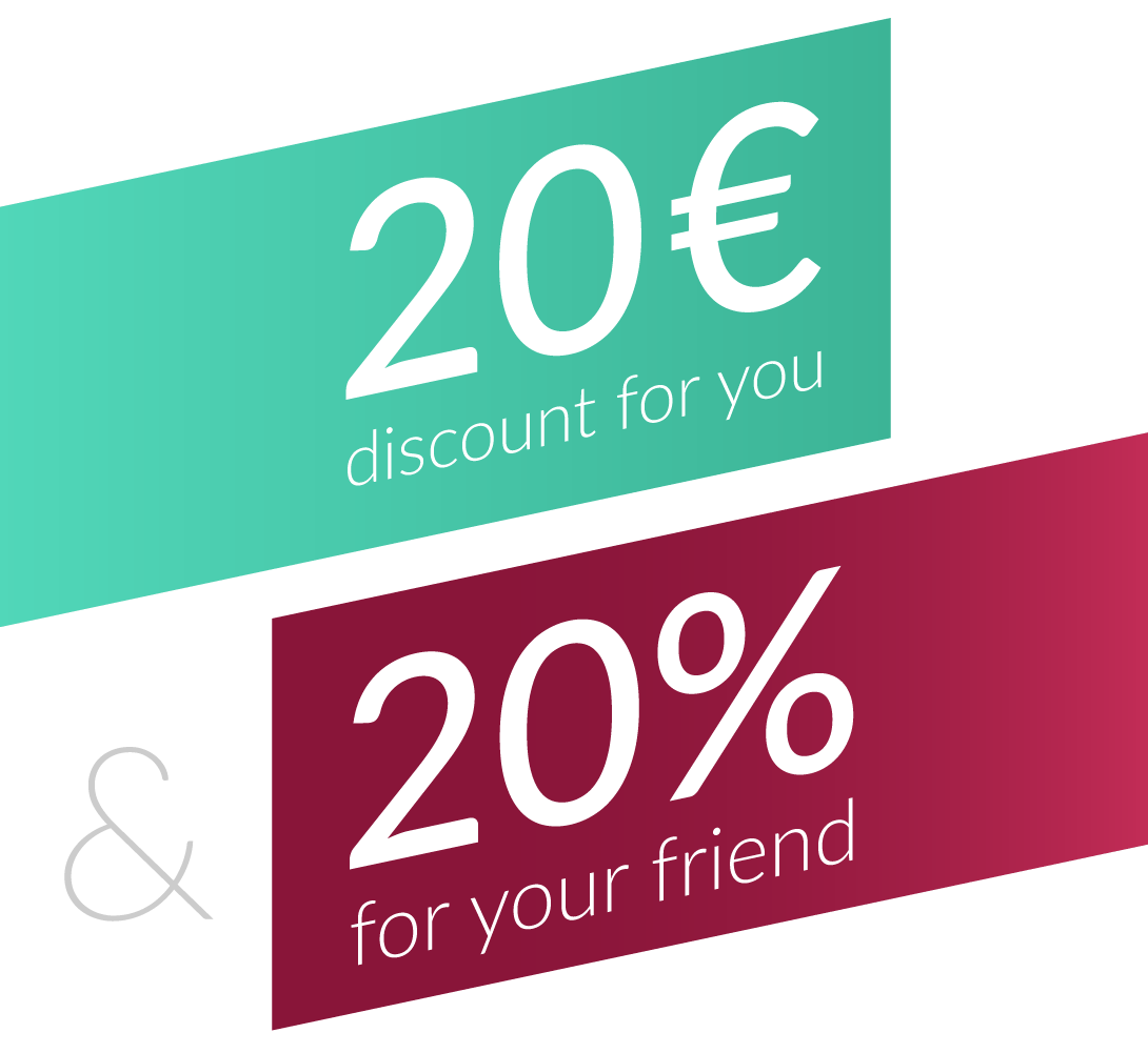 refer a friend discount 20 Euro off TEGO.CLASS